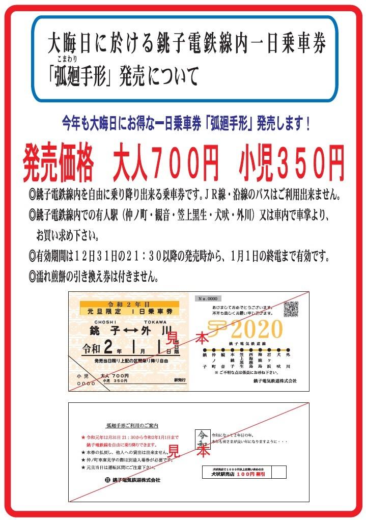 銚子電鉄初日の出の乗車券について