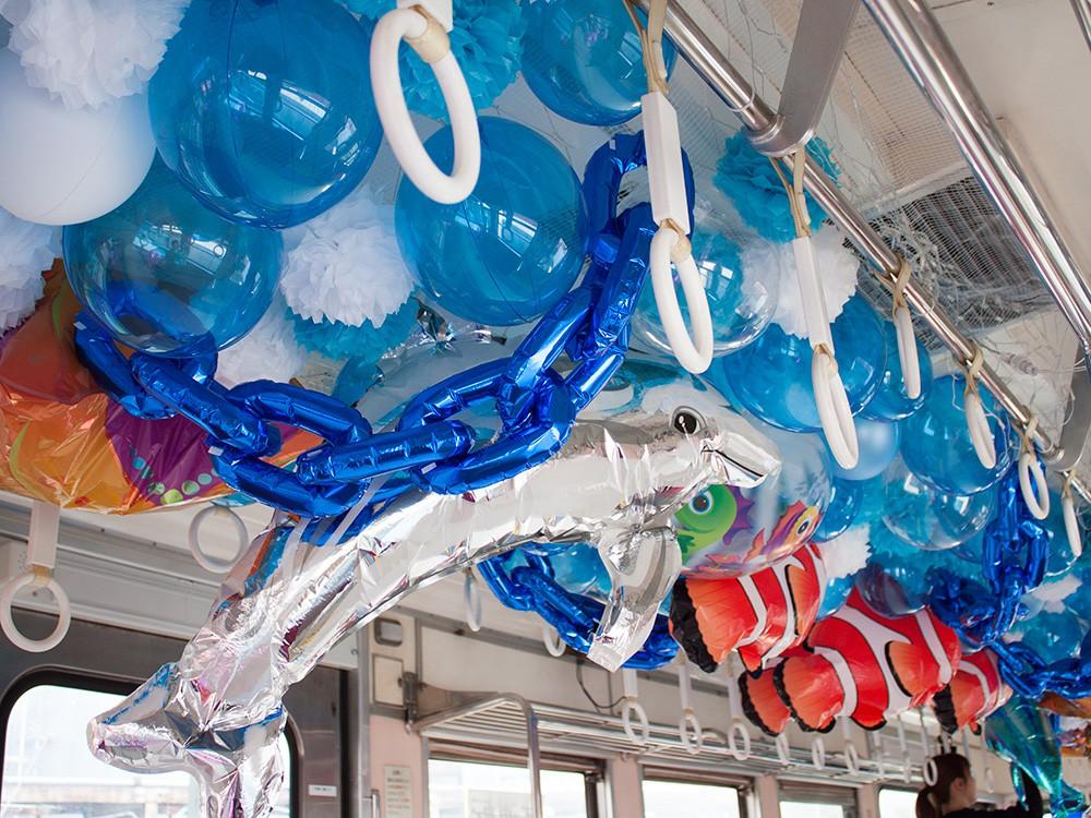 バルーン水族館電車